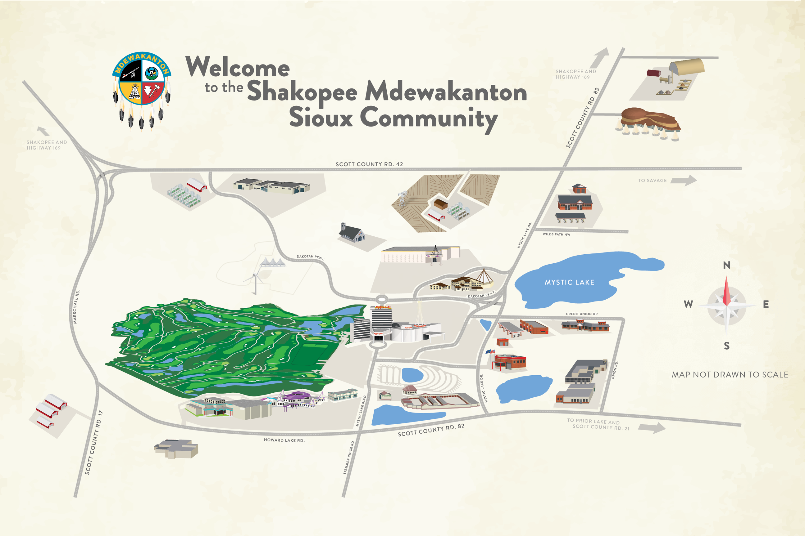 map of prior lake mn Shakopee Mdewakanton Sioux Community Map Prior Lake Mn map of prior lake mn